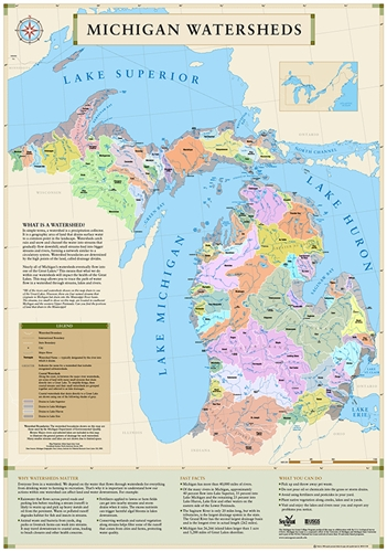 Map Of The Watersheds Of Michigan